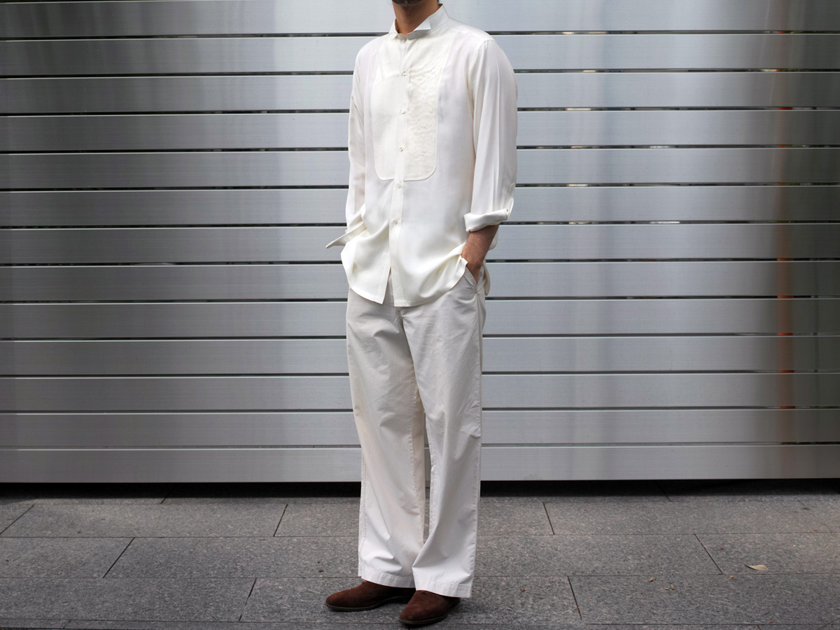 New arrivals , Vintage Charvet shirt & Vintage trousers/ Diary982